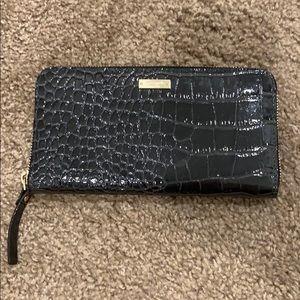 Kate space dark gray shiny wallet